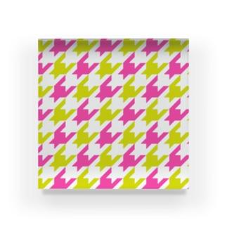 千鳥格子 Acrylic Block