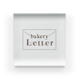 bakery Letter Acrylic Block