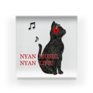 NYAN MUSIC NYAN LIFE ! Acrylic Block