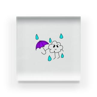 雲くん☔色つきver Acrylic Block