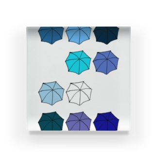 傘の花 あお Acrylic Block