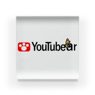 YouTubear Acrylic Block
