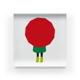 赤い傘の女の子 Acrylic Block