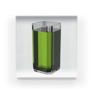 ドリンクバー・緑茶 Acrylic Block