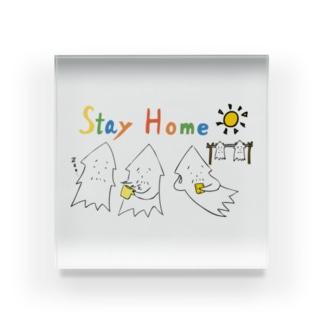モンゴイカンパニー 販売部のSTAY HOME モンゴイカ Acrylic Block