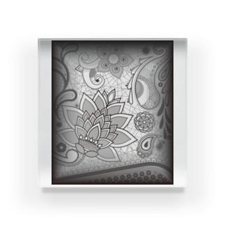 花とレース Acrylic Block