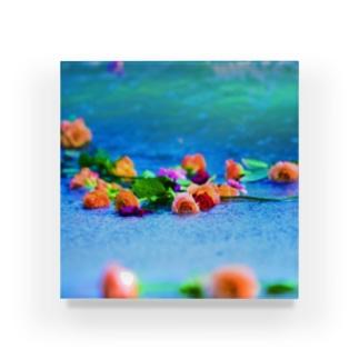 波打ち際の薔薇たち-02 Acrylic Block