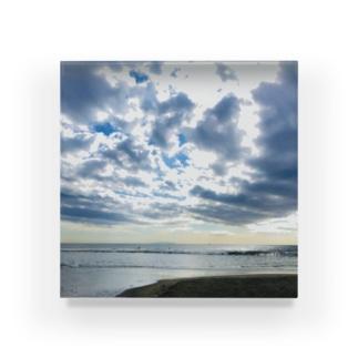 トウメイアオの海の空 Acrylic Block