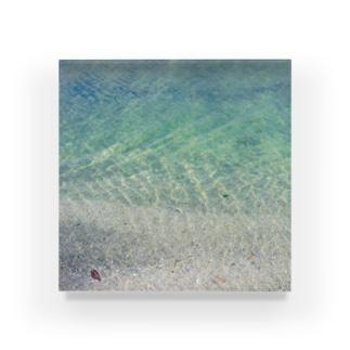 トウメイミドリの波 Acrylic Block