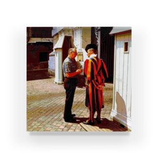 CG絵画:バチカンのスイス人衛兵 CG art: Vatican Guard Acrylic Block