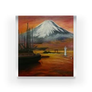 YOSHIKO MIYAHARA「森戸海岸からの富士」 Acrylic Block