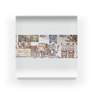 Bear's cafe の仲間たち Acrylic Block