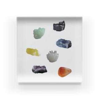 鉱物いろいろ Acrylic Block