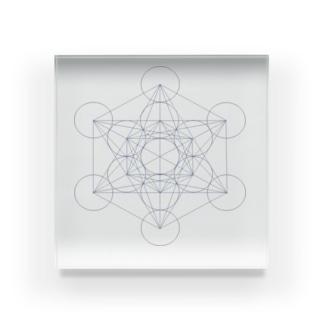 シンプル 「Metatron's Cube」 Acrylic Block