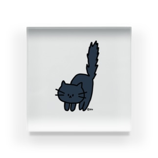 himetaroの気が立っている猫 Acrylic Block