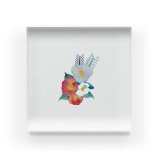 真冬の椿 Acrylic Block