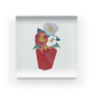 玄関の花 Acrylic Block