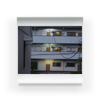 rikutoのapartment house Acrylic Block