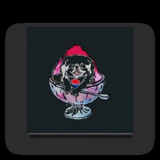 犬グッズの店しえるぶるーのかき氷ワンちゃん 氷イチゴ ペキニーズ ホワイト Acrylic Block