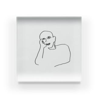 〜頬杖をつく男の断片〜 Acrylic Block