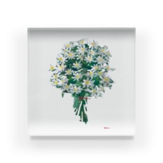 マーガレットの花束 Acrylic Block