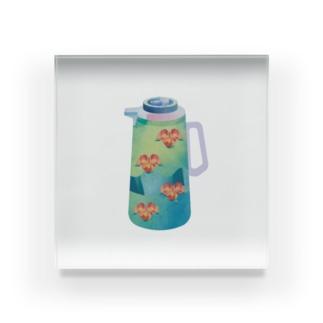 夢の給湯ポット 中国茶 Acrylic Block