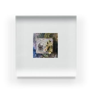 ベビーカーと紫陽花 Acrylic Block