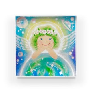 スターシードな天使ちゃん Acrylic Block
