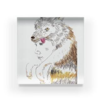 狼の皮を被った女の子 Acrylic Block