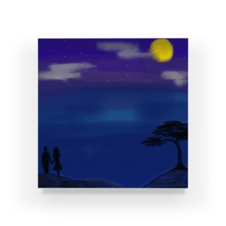 月夜の二人 Acrylic Block