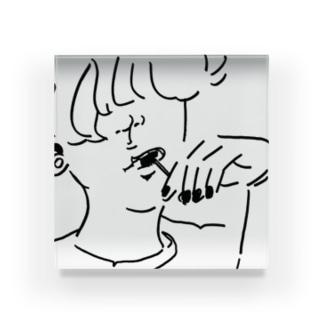 棒付きキャンデー Acrylic Block