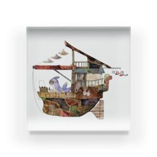飛行船ウミウシ Acrylic Block