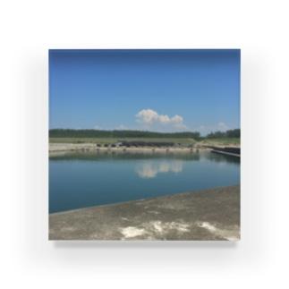 夏の漁港 Acrylic Block