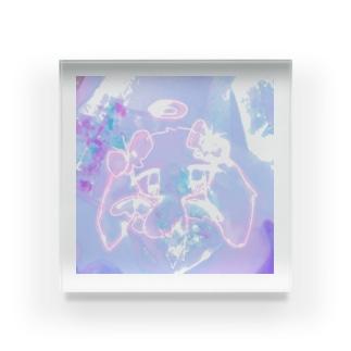 孤独うさぎ天使 Acrylic Block