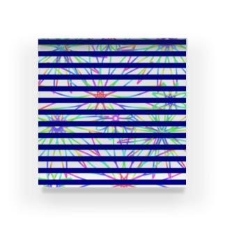 FLOWER×ボーダー Acrylic Block