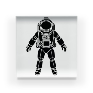 夢見る宇宙服-シルエット-黒 Acrylic Block