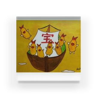 フラちゃんの宝船 Acrylic Block