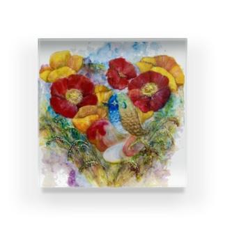 ツヤツヤアマビエチャン✩ Acrylic Block
