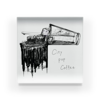 PetrichorのCity Pop Coffee Acrylic Block