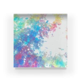 colourful canvas N Acrylic Block