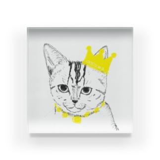 猫の王様 Acrylic Block