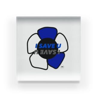 I SAVE U Acrylic Block