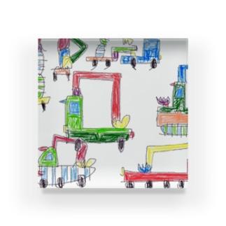 働く車の群れ part2 Acrylic Block