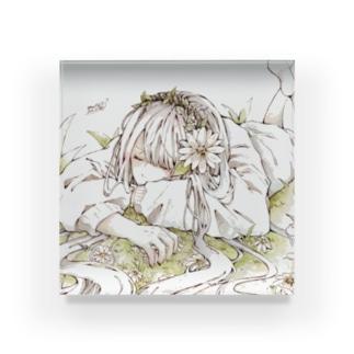 🍃とあるお茶🍵COMITIA130し24bのアースちゃん Acrylic Block