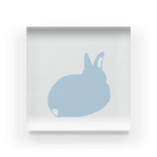 幸せの青いうさぎ(後ろ) Acrylic Block