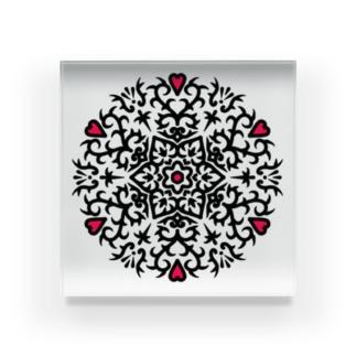 幾何学模様18 Acrylic Block