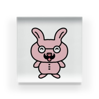 nyanchu08023のおじさんウサギ Acrylic Block