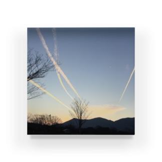 行け!飛行機雲 Acrylic Block