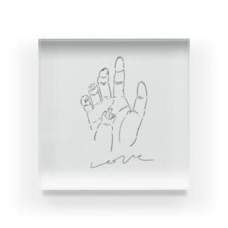 愛の手 Acrylic Block