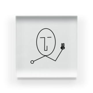 NATSUKO-SHOPのthe face ピース (顔) Acrylic Block